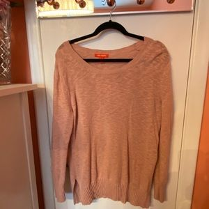 Blush pink over sizes sweater